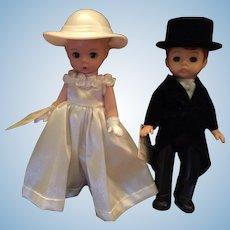 Sweet Madam Alexander Hard Plastic Bride, Groom, Wedding Cake