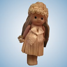 Circa 1920s Marked Celluloid Flapper Kewpie Bride