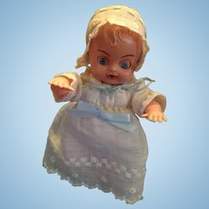 "Circa 1960s Hard Plastic 6"" Darling Baby by Blue Box Toys"