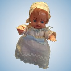 """Circa 1960s Hard Plastic 6"""" Darling Baby by Blue Box Toys"""