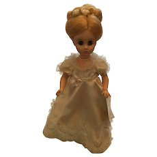 """1976  Madame Alexander 14"""" Hard Plastic Louisa Adams doll from the First Lady Collection"""