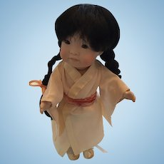 Artist-Made Oriental Doll by 'Meggan's Doll House - Canada's Premier Name in Porcelain Dolls'