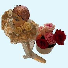 Vintage Belle Epoque Harlequinade Porcelain Flapper Marotte