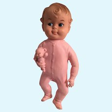 Reliable Toddler Rubber Doll with Intact Squeaker