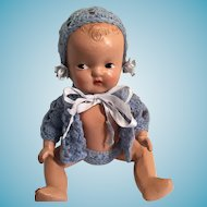 """Sweet 1930s  9 1/2"""" Reliable Composition Baby Doll"""