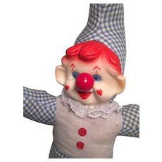 Sweet 1970s Wind-Up Musical Clown by Ganz Brothers Toys Ltd.