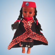 Kwakiutl Indigenous Doll in Artist-Made Ceremonial Robes