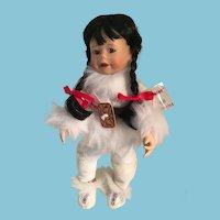 Early 1990s 'Miki' Alaskan doll by Kathy Barry-Hippensteel