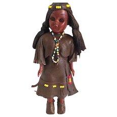 1960s Carlson Native American Aboriginal Maiden doll