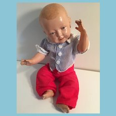 """1910 Schildkrot 13"""" Turtle Marked Celluloid Character Doll"""