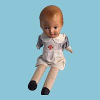 "1940s 16"" Reliable Composition Peggy Nurse Doll"
