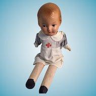 "1940s 16"" Reliable Composition Peggy Nurse Doll"