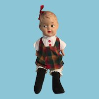 "1940s 15"" Reliable Composition Hairbow Peggy Doll"