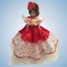Circa 1940s Hard Plastic Duchess Valentine Princess Doll