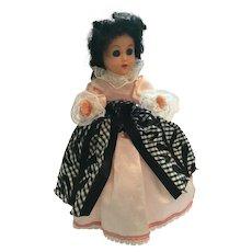 "Circa 1950s Hard Plastic 8"" Elegant Lady Fashion Doll"