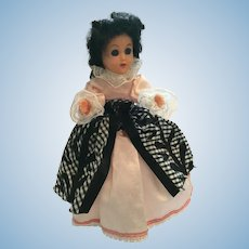 "Circa 1950s Hard Plastic 8"" Elegant Lady Fashion Doll"