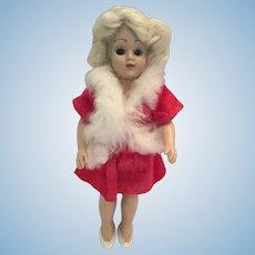 Circa 1940s Hard Plastic Duchess Platinum-Haired Fashion Doll