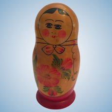 Vintage Russian 3 Stacking Matryoshka Babushka Dolls