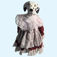 "Artist-Created 14"" Dalmation Girl Porcelain Doll"
