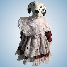 "Artist-Created 14"" Dalmation Girl Porcelain Doll"