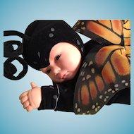 "1998 Anne Geddes 16"" Baby Butterfly (Monarch) in Box"