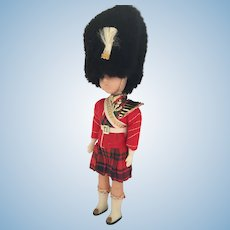 Circa 1960s Hard Plastic Queen's  Guardsman Doll