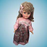 "1960's Platinum Blonde Hard Plastic 23"" Chubby Child"