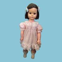 "1976  Uneeda 29"" Vinyl Walking Doll with Smocked Dress"