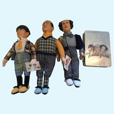 1991 Three Stooges Dolls and 75th Anniversary CDs