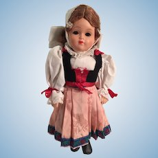 """12"""" Eastern European Doll in Traditional Costume"""