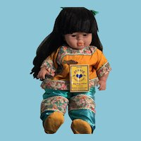 """1995 22"""" 'Ming Ming' Doll by Zapf Corporation, West Germany"""