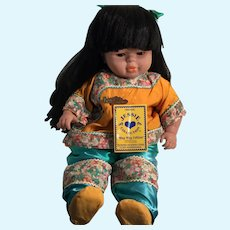 "1995 22"" 'Ming Ming' Doll by Zapf Corporation, West Germany"