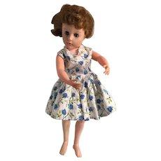 "1957 Valentine Walking Ballerina Holiday 18"" Hard Plastic Doll"