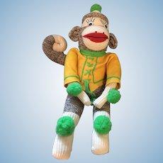 """18"""" Artist-Made Monkey Grinder Sock Doll"""