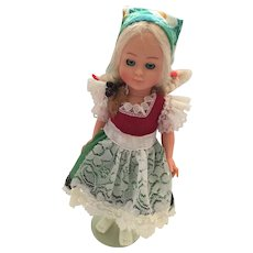 1950s-60s 6 1/2 inch Hard Plastic German Doll with Dirndyl