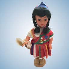 1950s-60s  9 Inch Hard Plastic Doll from Madeira Spain
