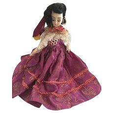 """1940s Hard Plastic 8"""" Duchess Fashion Gypsy Doll"""