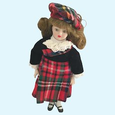 Vintage 8 Inch Doll from 'Scotland' by 'Porcelain Dolls of the World