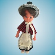 1960s 7 1/2 inch Doll with Soft Vinyl Face from Wales