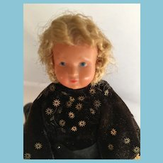 Early 1900s French signed Bretagne Celluloid Lady Doll