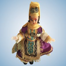 "1960s Turkish 7"" Celluloid-style Doll in Traditional Costume"