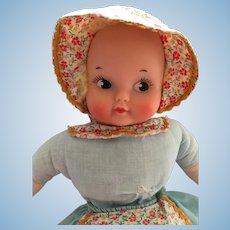 1940s 11 inch Knickerbocker Topsy Turvy Doll