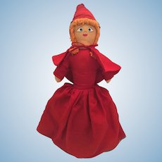"1960s 20"" Red Riding Hood/ Grandma/Wolf Topsy Turvy Doll"