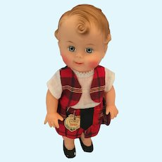 """Mint-in-Bag Reliable 10"""" Highland Laddie Doll"""