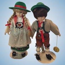 Pair of Euro-Exsquisite Hand-made Chili Loving Bavarian Dolls
