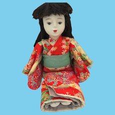 "Vintage 16"" Handmade Japanese Geisha Doll"