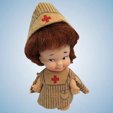 """1965 4"""" Pee Wee 'Little Nurse Doll' by Uneeda"""