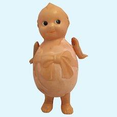 """Circa 1930s Kewpie 4"""" Celluloid Egg Doll"""
