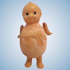 "Circa 1930s Kewpie 4"" Celluloid Egg Doll"