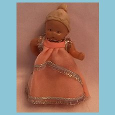 """3 1/2"""" Celluloid Baby doll with an 'Angel' Mark"""